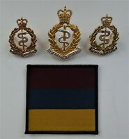 Royal Army Medical Corps Officers Cap/Collar Badges & TRF - RAMC