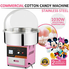 Electric Commercial Cotton Candy Machine Fairy Floss Maker 1030W w/ Sugar Scoop