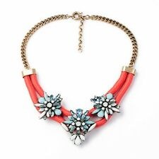 MOSSEE Gold-plated Floral Cystal Necklace