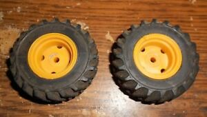 """2-lot 21/8""""x3/4""""wide goodyear 16.9x24 tires and rims in good shape used"""