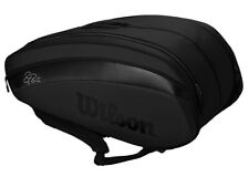 Wilson Federer Dna 12Pk Bag Backpack Tennis Badminton Black 2020 Wr8006002001