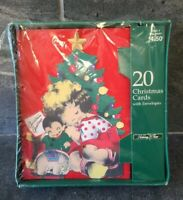 VTG Gibson 1939 REPRO Die Cut Articulated Christmas Cards 20 PC DEAD STOCK NIP