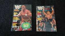 joblot bundle of 2x wwf wrestling magazine/books 6x wwf posters