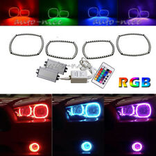 For 2011-14 Dodge Charger Multi-Color Headlight RGB LED Halo Ring Angel Eyes Kit