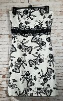 White House Black Market Size 6 Dress Floral Sleeveless Cocktail Party Prom