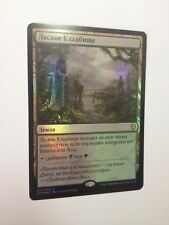 Russian Foil Woodland Cemetery MTG NM Dominaria Magic The Gathering