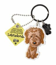 Labradoodle 3D Key Ring Bag Charm Tag Dog Lovers Gift Stocking Filler