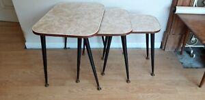 Vintage Retro Nest Of Tables Retro Table Formica Top Retro Dansette Legs Atomic