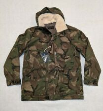 NWT Abercrombie & Fitch Men's Camo Military Combat Jacket Sherpa Hooded size S