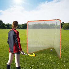 Adjustable Practice Lacrosse Goal and Net Sport Iron Frame Hockey Net 6 x 6x 7ft
