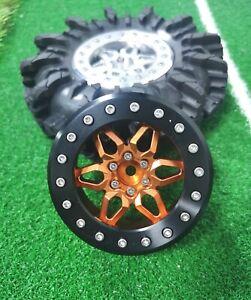 """VITAVON CNC Alu 2.6"""" Bead lock wheel  sells 1pc Orange+black"""