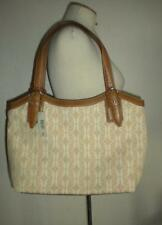 FOSSIL BRAND TAN AND BROWN MONARCH EMBOSSED TOTE PURSE