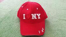 I Love NY New York Trucker Baseball Hat Red