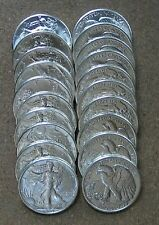 Roll 1943 Walking Liberty Silver Halves. Ch/Gem Bu