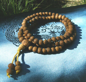 Sehr schöne MALA Gebetskette aus Bodhi Samen 80cm TIBET!