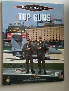 Autographed Orioles Game Day Magazine Baltimore Orioles Mussina & McDonald