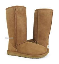 UGG Australia Classic Tall Chestnut Brown Fur Boots Womens Size 10 *NIB*