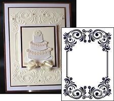 Floral Rectangle Frame Crafts Too embossing folders CTFD3093 Cuttlebug compatibl