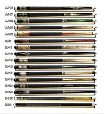 BW Pool Cues 58-Inch 2-Piece Canadian Maple Hardwood classic decal design