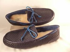 UGG Australia BRAND NEW Driving Moccasin Loafer Navy Woven Leather 9 M $150.00!
