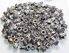 10 schöne Beads - Modul Elemente für Bead Armband - Kette * Antik Silber Spacer