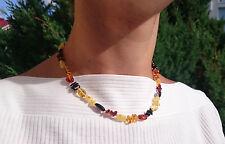 Natural Baltic Amber MIX Beads Necklace No Enhancement