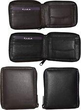 Lot of 4 Zip around FIZA NY leather men's wallet Bi-fold wallet change purse BN