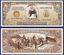 5-49er's California Gold Rush Million Dollar Bills Collectible- MONEY- P2