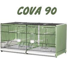 Gabbia cova 90 2gr per canarini, uccelli, verniciata nera e laterali verdi