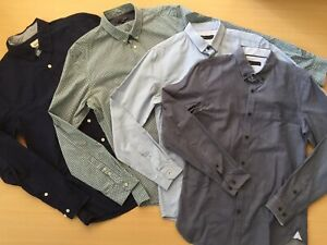 SEED & SABA Men's Long Sleeve Button Front Shirt Bundle - Sizes S