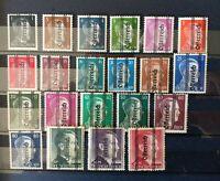 Timbres Autriche (1945) - neufs* - N°553 à 558 et 560 à 574 YT