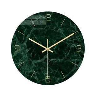 1 stück Roman Marmor Wanduhr Druck Wanduhr Grün Runde Moderne ohne Batterie für
