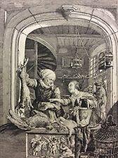 Gerard Dou (1613-1675) la boutique du marchand de volailles élève de Rembrandt