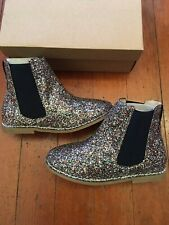 NEW CREWCUTS Girls' Glitter Chelsea Boots Size US 4 Holiday Christmas Recital