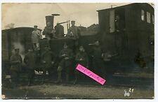 Foto : Deut. Militär-Eisenbahn-Lokomotove mit Pioniere 1918