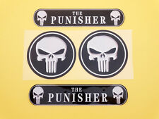 Set Tank Fairing Fender Punisher Skull Emblems Decal Stickers Motorcycles Custom