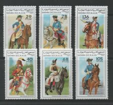 Thematic Stamps Others - SAHARA 1997 UNIFORMS 6v mint