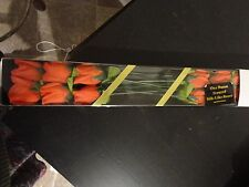 SET OF 12 SILK SCENTED RED ROSES FLOWER NEW IN BOX