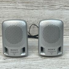 Sony Portable Mini Stereo Speakers System SRS-P3 Silver Retro - Used working