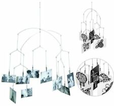 Modern Hanging Mobile Kikkerland Silver Photo Clips New in Box Metal Gift