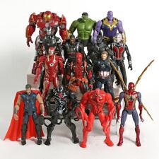 "14Pcs Marvel Avengers Iron Man Thor Venom Hulk Ant-Man 7"" Action Figure Model"