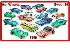 Sweet 16 Hot Wheels Cars Glossy Advertising Fridge / Shop Magnet