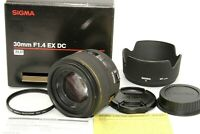Near Mint Sigma 30mm f/1.4 HSM EX DC Wide Angle Lens for Canon Protector Japan
