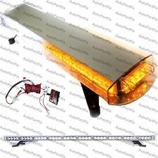 48 in 88 LED White Amber Emergency Warning Truck Strobe Light Roof Bolt Tow Bar