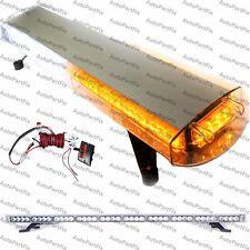 48 in 88 LED White Amber Emergency Warning Truck Strobe Light Roof Bolt Tow Bar