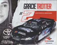 2019 GRACIE TROTTER HEINTZ PERFORMANCE NASCAR WHELEN LATE MODEL  SERIES POSTCARD
