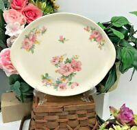"""Crooksville Apple Blossom/ Azalea, Serving Platter, Iva-Lure 11 1/2"""" Oval"""