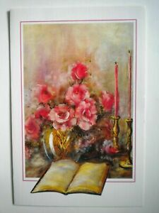 """VINTAGE """"TRANQUIL MOMENTS"""" BLANK GREETING CARD ~ Justice May ~ Mouth Painter"""