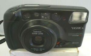 Yashica Kyocera Sensation Zoom 90 AF Power Zoom 35mm Camera & Strap ~TESTED