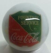 """Set of 2 Coca Cola Gum 1/"""" Glass Logo Marble With Stands # 1"""